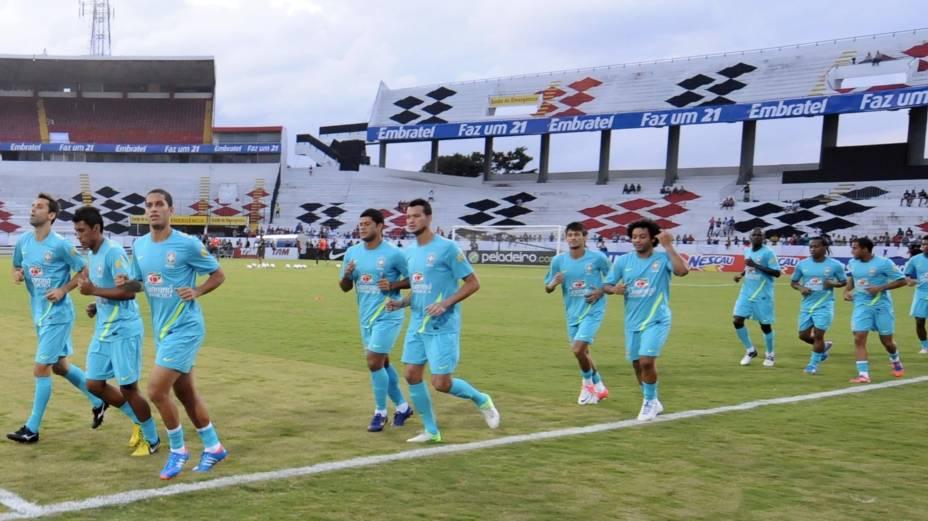 Treino da seleção no Estádio do Arruda, no Recife