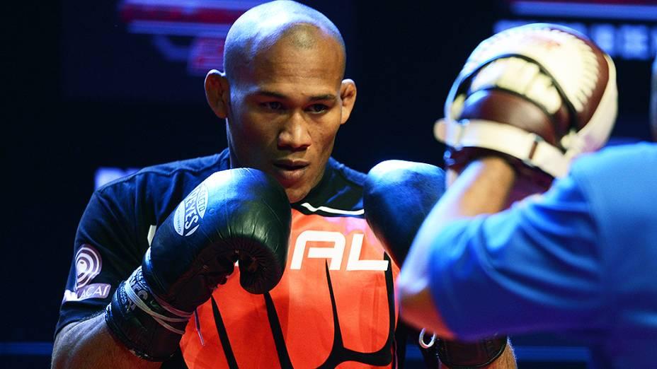 Ronaldo Jacaré no treino aberto para o UFC Jaraguá do Sul, em Santa Catarina