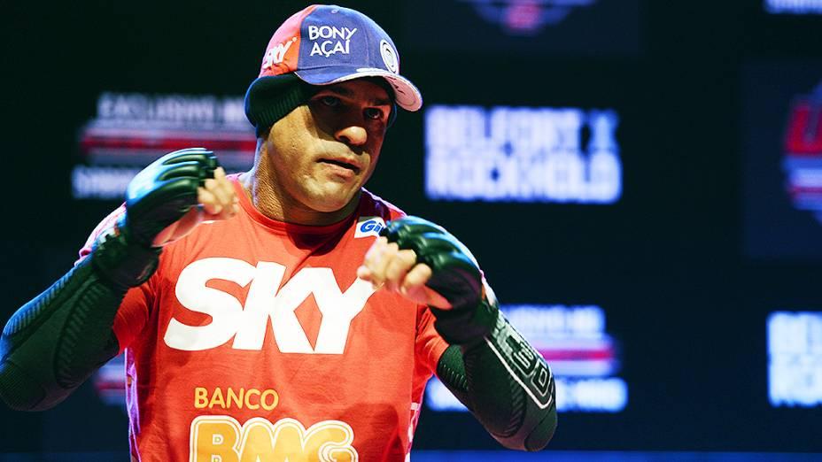 Vitor Belfort no treino aberto para o UFC Jaraguá do Sul, em Santa Catarina