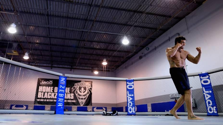 Vitor Belfort treina no Jaco Hybrid Training Center em Delray Beach, Flórida