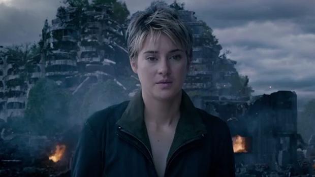 Tris (Shailene Woodley) em A Saga Divergente: Insurgente