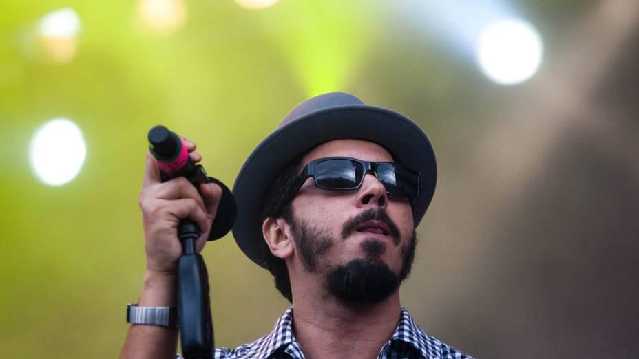 O show de Tulipa Ruiz e Nação Zumbi no palco Sunset, no segundo dia do Rock in Rio, em 24/09/2011