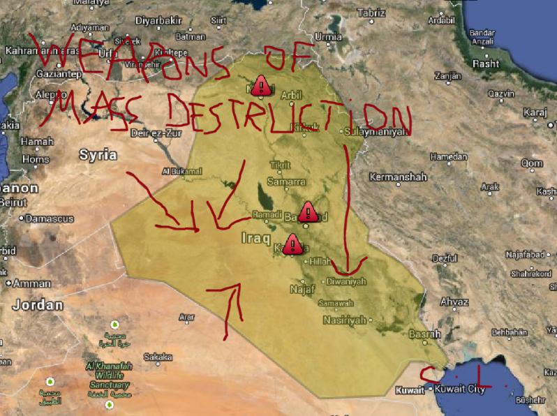Courtney Love encontra armas de destruição em massa no Iraque