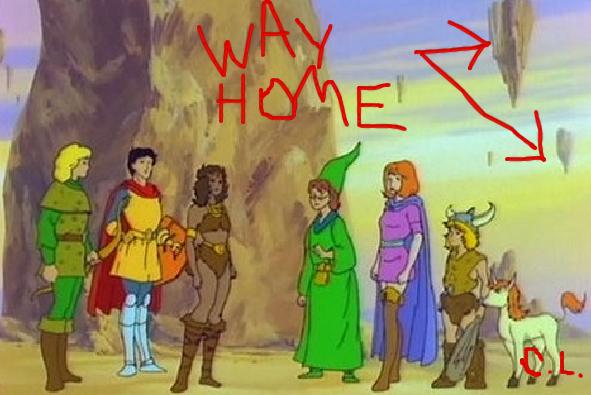 Courtney Love encontra o caminho de casa dos personagens de A Caverna do Dragão