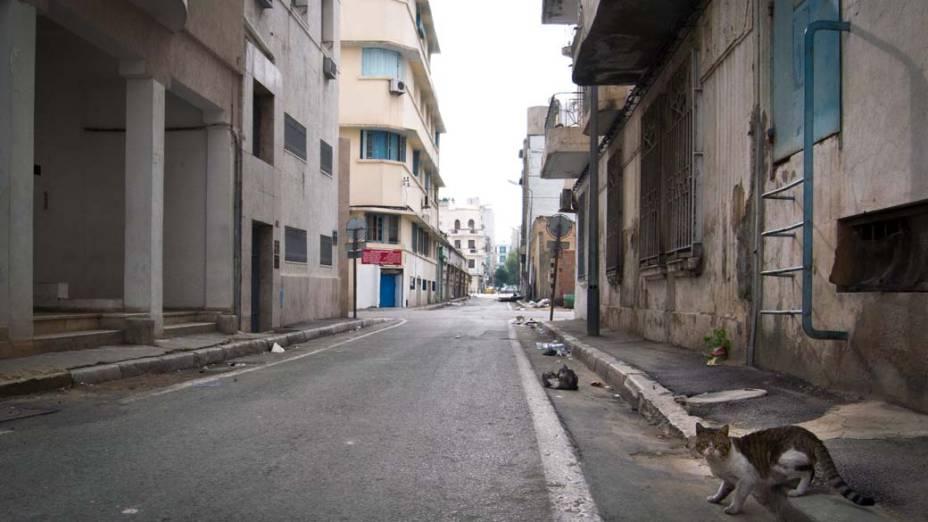 Rua do centro de Tunis, Tunisia