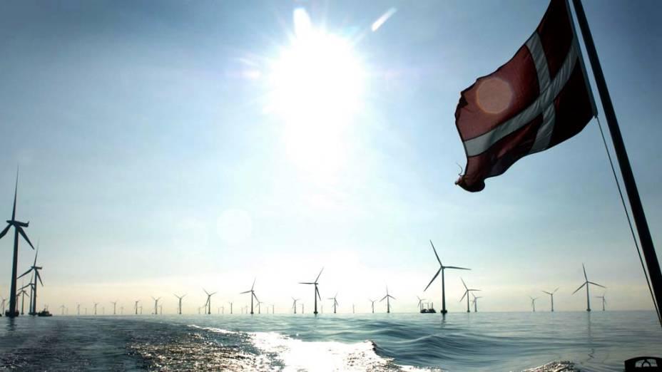 As turbinas eólicas em Roedsand, na Dinamarca, produzem energia para cerca de 200.000 casas