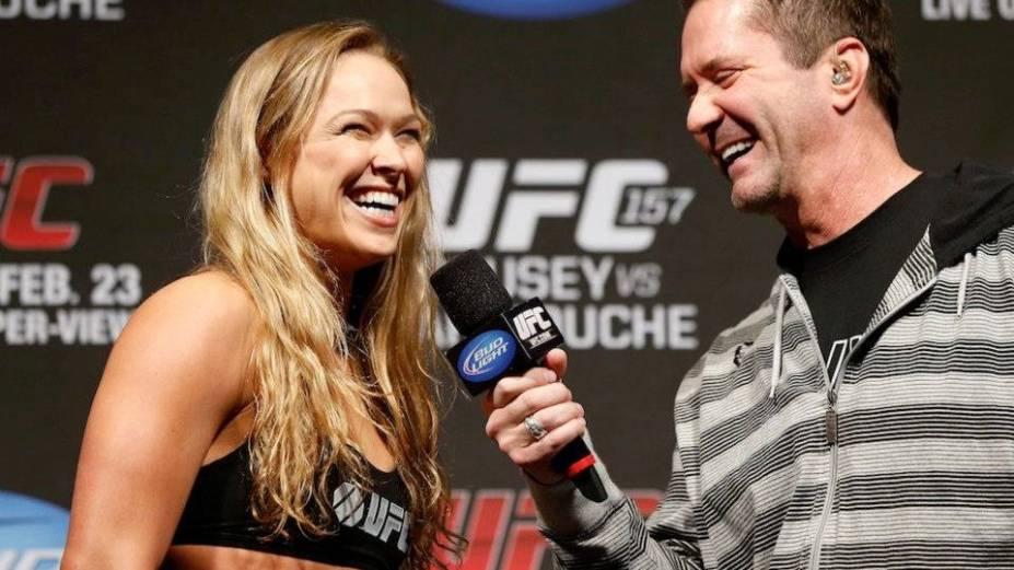 Ronda Rousey na pesagem para o UFC 157