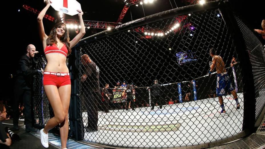 UFC 167: a ring girl Vanessa Hanson
