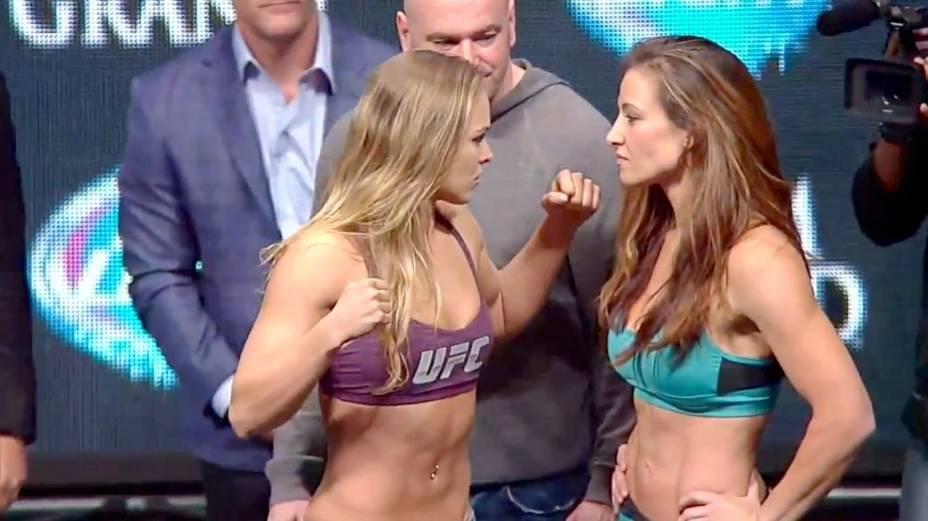 A pesagem do UFC 168: Silva x Weidman, em Las Vegas
