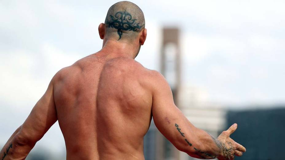 Wanderlei Silva durante treino aberto para o UFC 147, em Minas Gerais