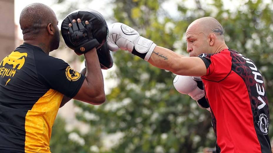 Wanderlei Silva durante treino aberto do UFC 147, em Belo Horizonte
