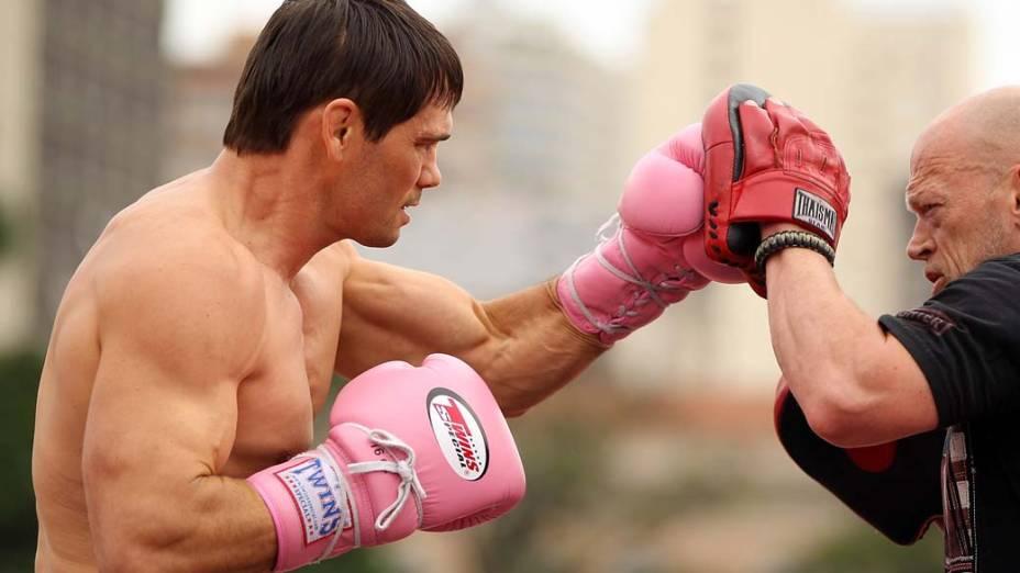 Rich Franklin durante treino para o UFC 147 em Belo Horizonte, Minas Gerais