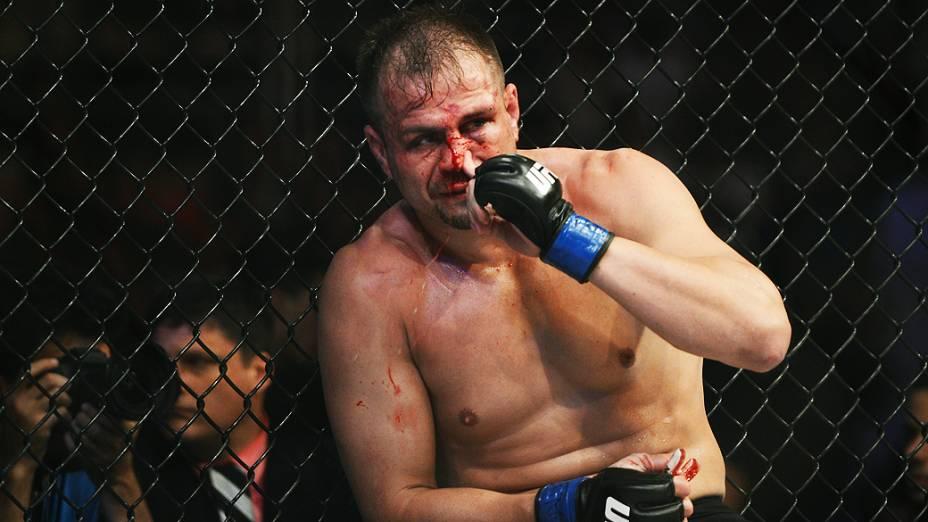 Fabio Maldonado durante luta no UFC Rio III, realizada na HSBC Arena, Barra da Tijuca