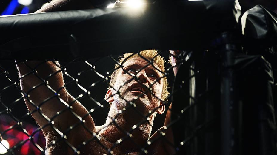 Stephan Bonnar depois da luta com Anderson Silva no UFC Rio III, realizada na HSBC Arena, Barra da Tijuca