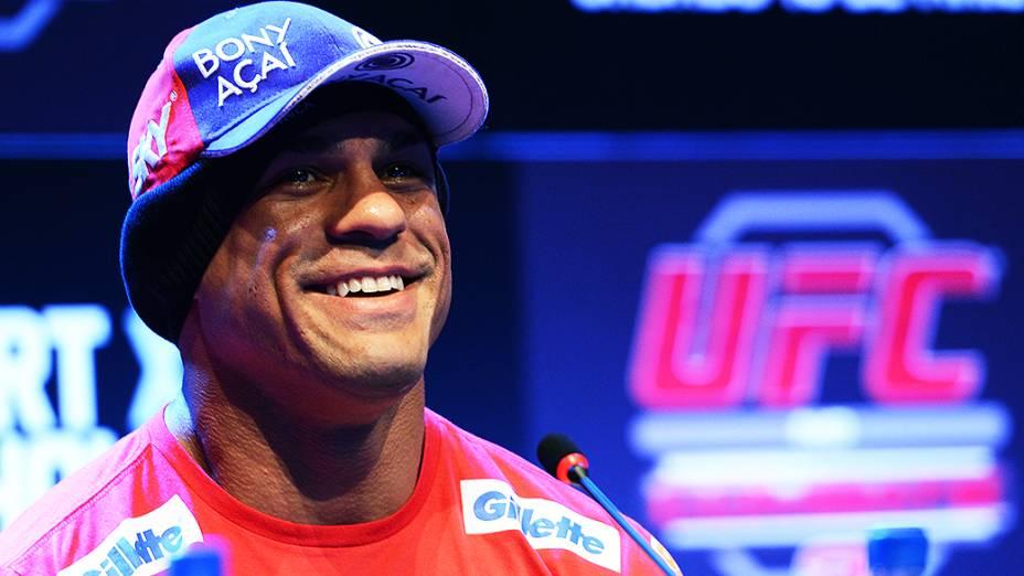 Vitor Belfort na coletiva de imprensa do UFC Jaraguá do Sul, em Santa Catarina