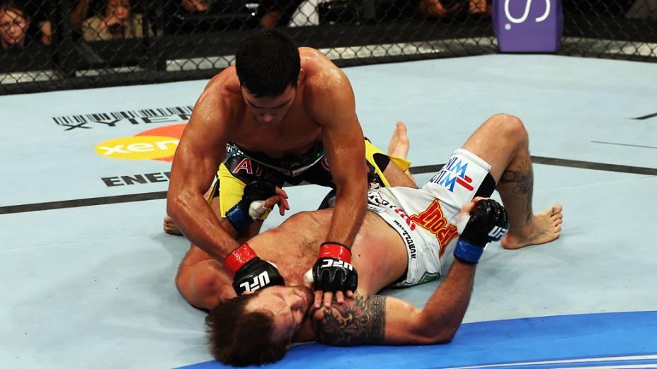 Lyoto Machida derrota Ryan Bader por nocaute em Los Angeles, Califórnia<br><br>  Lyoto Machida vence Ryan Bader por nocaute em Los Angeles, Califórnia<br><br>