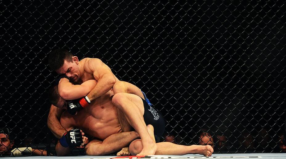 Demian Maia finaliza Rick Story pela categoria peso-meio-médio do UFC, realizada na HSBC Arena, Barra da Tijuca