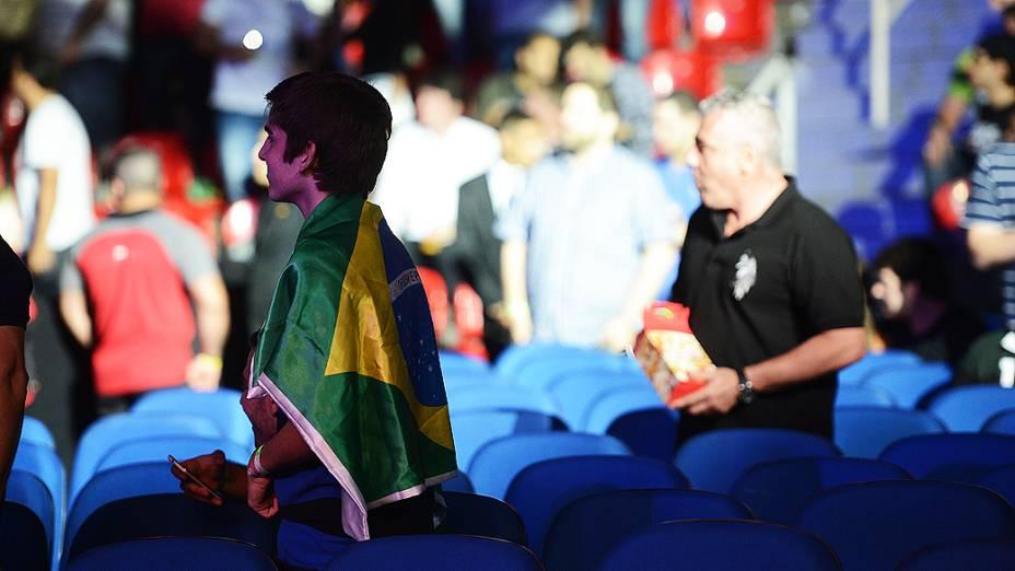 Arena HSBC lotada e o público, que vibrou com as lutas do UFC Rio III, realizada na Barra da Tijuca