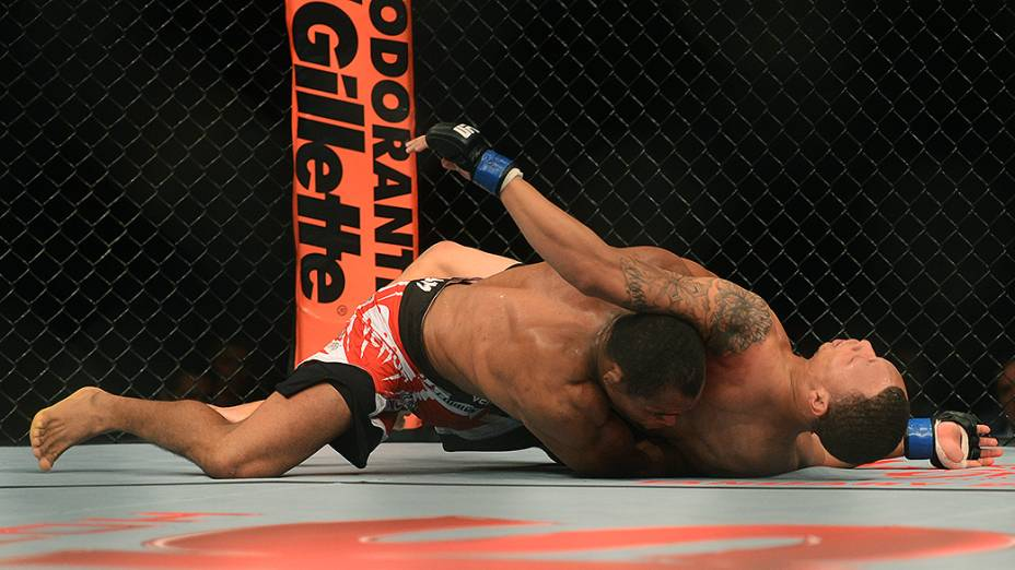 O piauiense Francisco Massaranduba derrotou CJ Keith, durante UFC São Paulo no ginásio do Ibirapuera