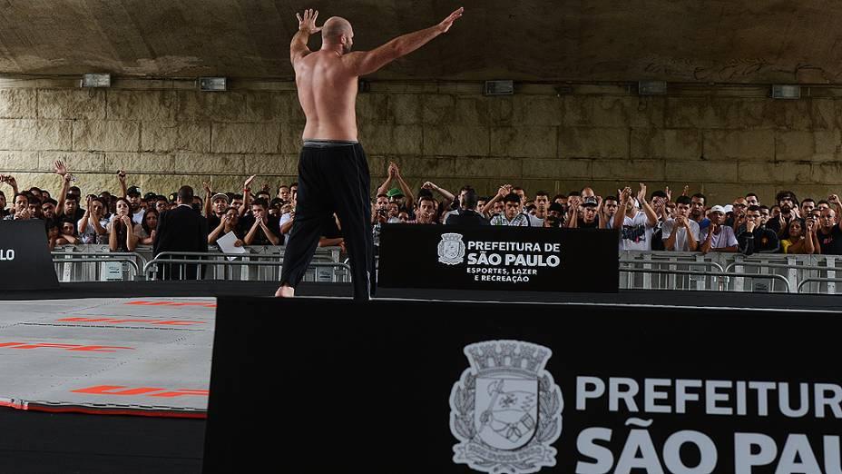 Ben Rothwell durante treino do UFC, em São Paulo