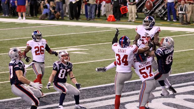 Último lance da partida que sagrou o New York Giants como campeão do Super Bowl 46