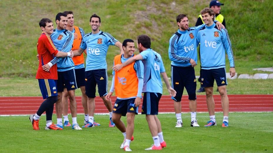 Rivais unidos na seleção espanhola