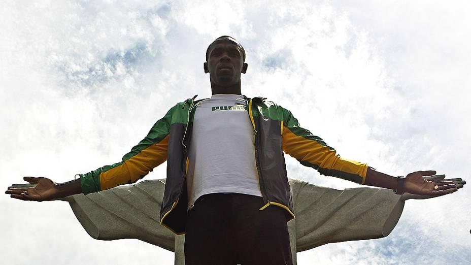 Bolt é o atual recordista mundial e olímpico dos 100 m e dos 200 m
