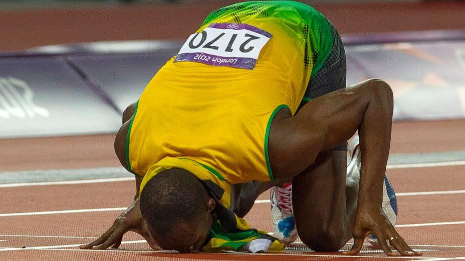 Usain Bolt conquistou a medalha de ouro na prova dos 200 metros dos Jogos Olímpicos