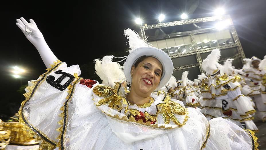 Desfile da Vai vai no segundo dia de desfile do Grupo Especial de São Paulo