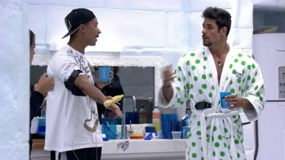 Valter e Diego discutem no BBB14