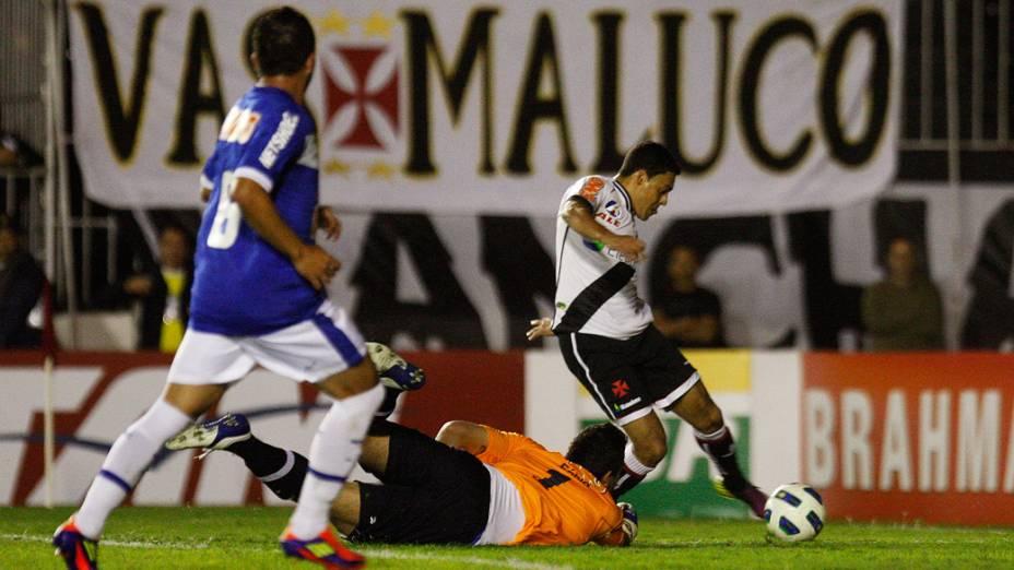 Eder Luis, do Vasco, durante partida contra o Cruzeiro, pelo Campeonato Brasileiro - 29/06/2011