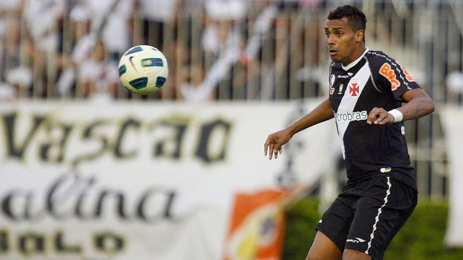 Elton, do Vasco, durante partida contra o Palmeiras, pelo Campeonato Brasileiro - 14/08/2011