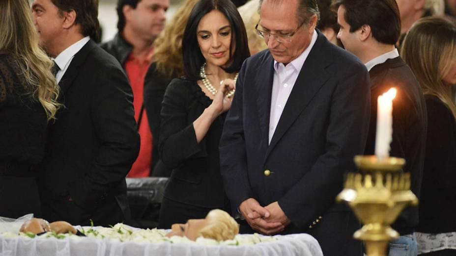 Governador Geraldo Alckmin comparece ao velorio da apresentadora Hebe Camargo