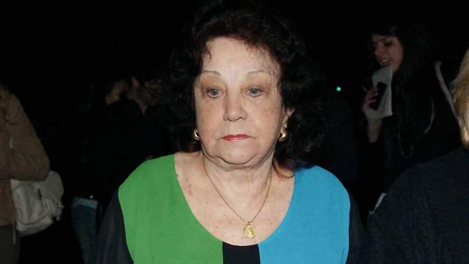 Lolita Rodrigues, amiga de Hebe há 68 anos, chega ao velório no Palácio dos Bandeirantes