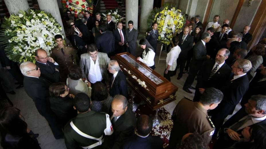 O corpo do ex-presidente Itamar Franco é velado no Palácio da Liberdade, Belo Horizonte