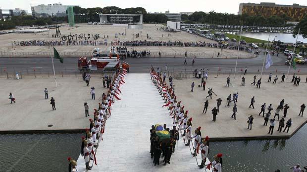 Cortejo no Palácio do Planalto, em Brasília