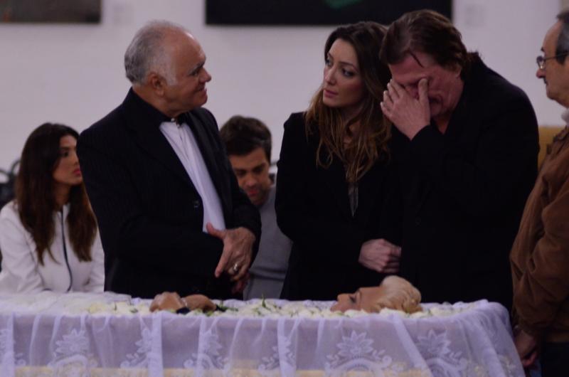 Fábio Jr. no velório da apresentadora Hebe Camargo no Palácio dos Bandeirantes. Hebe, uma das pioneiras da televisão brasileira, morreu aos 83 anos de parada cardíaca, em sua casa, no bairro do Morumbi.