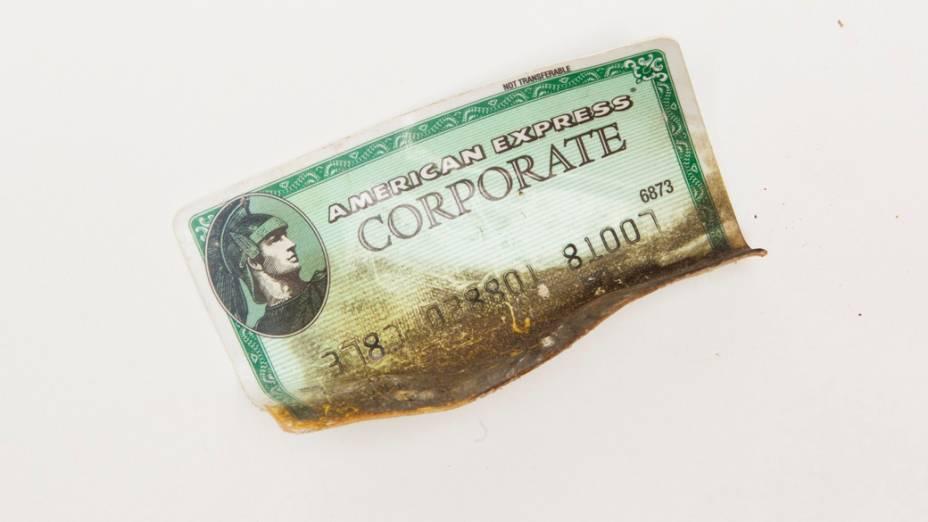 Cartão de crédito da vítima Gennie Gambale, recuperados a partir do telhado do Hotel Marriott no World Trade Center