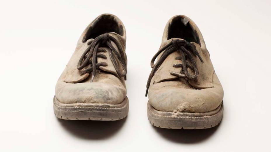Sapatos de Brian Van Flandern, voluntário no dia do atentado de 11 de setembro