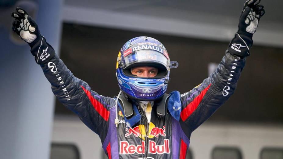 Vettel comemora o título no GP da Malásia (24/03/2013)