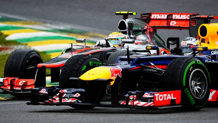 Sebastian Vettel no GP do Brasil de Fórmula 1, em Interlagos