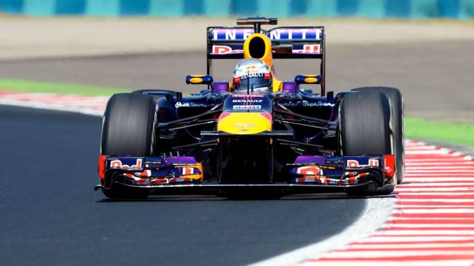 Sebastian Vettel em Hungaroring: favorito para a vitória no domingo
