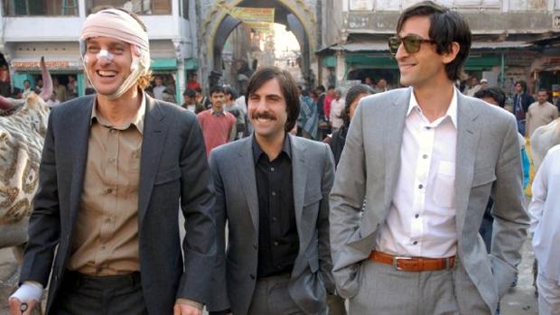 Owen Wilson, Jason Schwartzman e Adrien Brody em cena do filme Viagem a Darjeeling (2007)