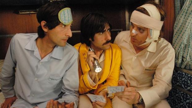 Adrien Brody, Jason Schwartzman e Owen Wilson em Viagem a Darjeeling (2007)