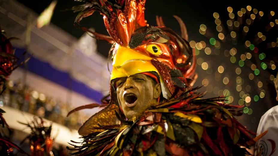 Unidos de Vila Isabel durante desfile na Marquês de Sapucaí