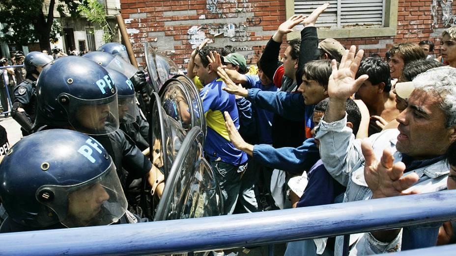 Torcedores do Boca Juniors envolvidos em briga