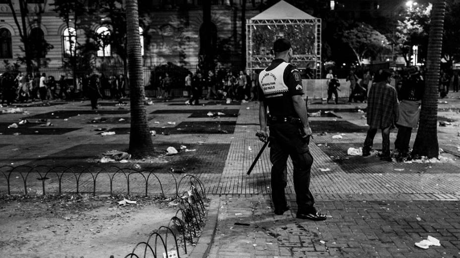 Guarda Municipal durante a Virada Cultural, em São Paulo