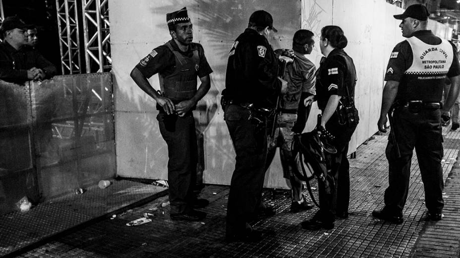 Guarda Municipal atua durante a Virada Cultural, em São Paulo