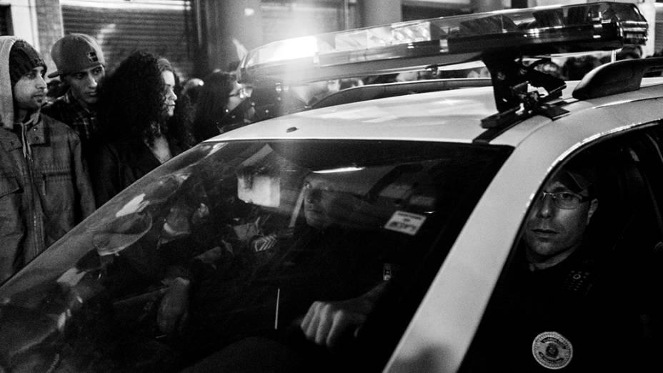 Guarda Municipal faz a segurança durante a Virada Cultural, em São Paulo