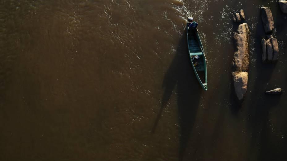 Vista do rio Paraíba do Sul cidade de Itaocara, a primeira prefeitura conquistada pelo PSOL